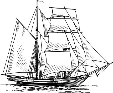 Boat Drawing Pictures by Historical Sailing Ships And Boats Coloring Pages