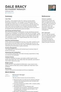 Restaurant Manager Resume samples - VisualCV resume ...