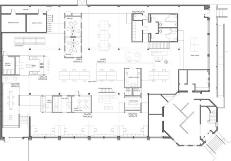 architectural plan skylab architecture office floor plan office