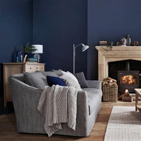 combine blue  gray   living room