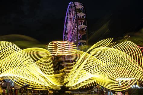 Carnival Rides at Night