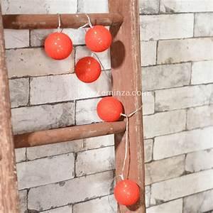 Guirlande Lumineuse Boule Rose : guirlande lumineuse boule raffia rouge 10 led guirlande lumineuse eminza ~ Melissatoandfro.com Idées de Décoration