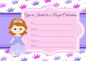 Sofia the first birthday invites for Sofia the first free invitation templates