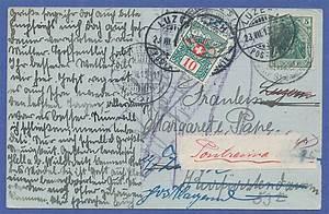 Postkarte In Die Schweiz : postkarte dt reich 1913 gel in die schweiz dort nachtaxiert und umadressiert tilman dohren ~ Yasmunasinghe.com Haus und Dekorationen