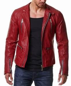 Veste En Cuir Rouge Homme : veste simili cuir homme biker rouge pas cher baresi pour ~ Melissatoandfro.com Idées de Décoration