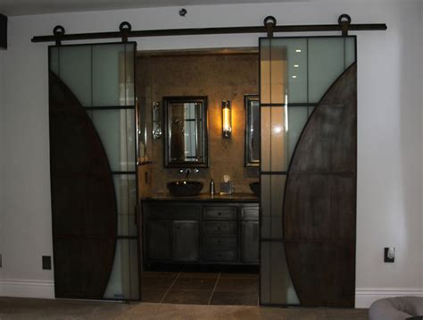 Iron And Glass And Warehouse Sliding Barn Doors