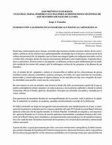 """(PDF) """"Los frentes culturales: culturas, mapas, poderes y ..."""