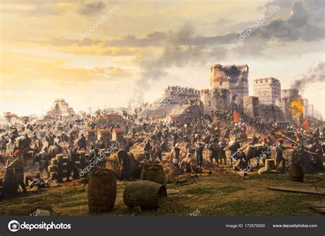 Fall Of Constantinople In 1453. Captured By Mehmet