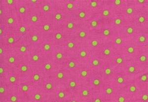 Pink And Green Polka Dots Background