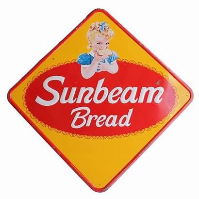 Bread Sunbeam Sign Metal 1950 1stdibs Signs