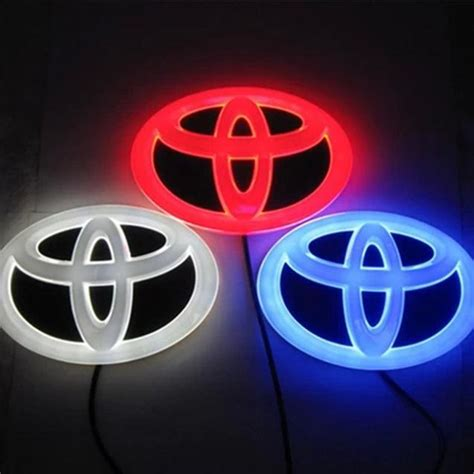 2014 newest 4d led car logo light for toyota rav4 camrys reiz highlander corolla prado led light