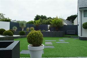 la cloture de jardin des idees pour sublimer votre With superior amenagement jardin avec galets 1 amenagement paysager avec terrasse en bois composite