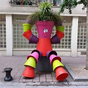 Creation Avec Des Pots De Fleurs : bonhomme pot de fleur ~ Melissatoandfro.com Idées de Décoration