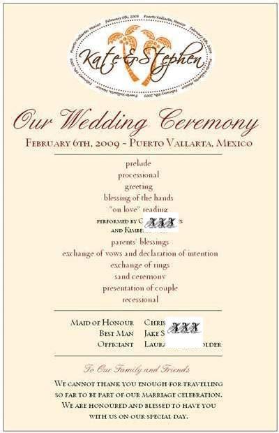 wedding program sle wording ideas wedding program thank you wording the way to say your gratitude