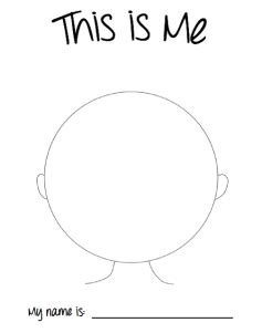 This Is Me Art Template by I Like Me Sunflower Storytime