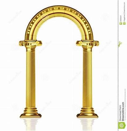 Arch Clipart Gold Entrance Golden Temple Arches