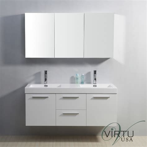 double sink bathroom vanity  gloss white
