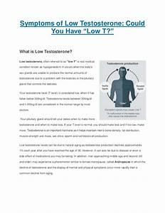 The Symptoms Of Low Testosterone Or  U0026quot Low T U0026quot  In Men