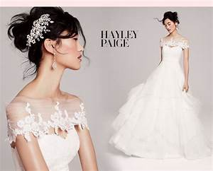 hayley paige bridal gown with lace cover up With wedding dress cover up