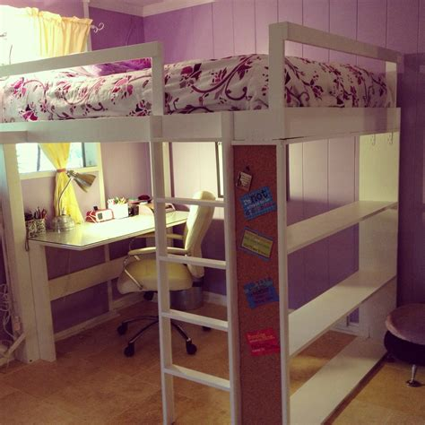 10 Best Loft Bed With Desk Designs by Bedroom Exciting Size Loft Bed With Desk For