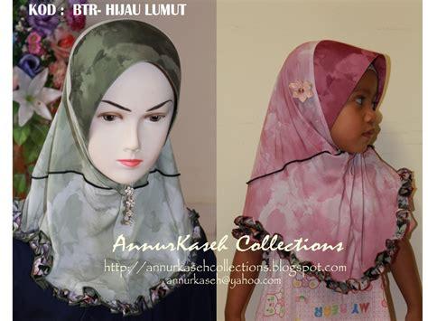 kids hijab annurkaseh collection tudung kanak kanak