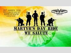 Martyrs Day Ride We Salute at Royal Enfield Bull Club