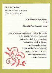 beautiful marriage invitation sample wedding invitation With wedding invitations message format