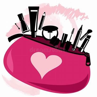 Makeup Bag Vector Clip Tools Beautician Pink