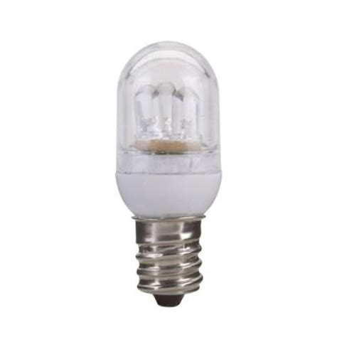 globe electric 2w equivalent bright white 3000k c7 clear