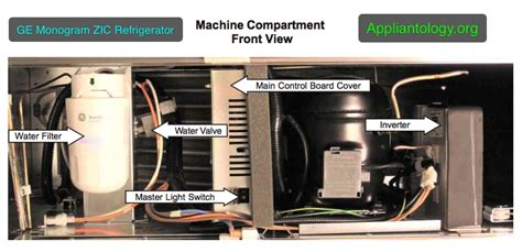 ge monogram zic refrigerator machine compartment front