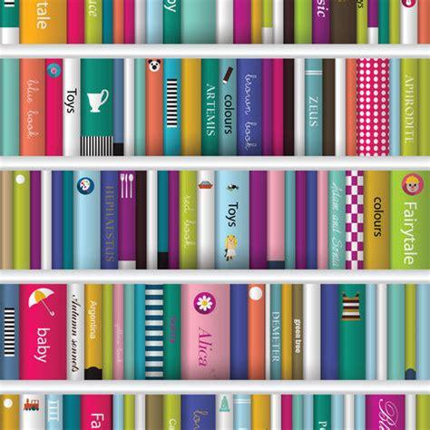 book shelf printed  kiddy books wallpaper rs  roll