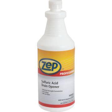 zep professional sulfuric acid drain opener  oz case