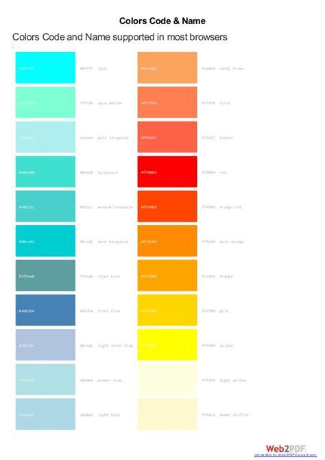 web safe color complete websafe colors code