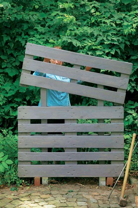 Sichtschutzzaun Aus Paletten by Kreativ Idee So Wird Aus Paletten Ein Bl 252 Hender