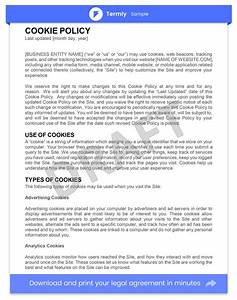 sample cookie policy template examples guide termly With cookie policy template