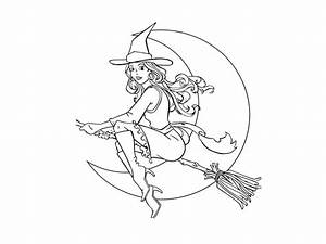 Free Printable Witch Coloring Pages For Kids
