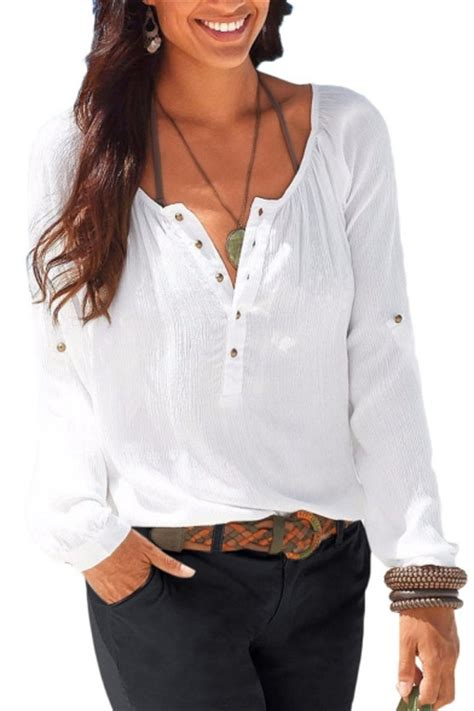 womens linen shirts blouses womens casual v neck blouses linen sleeve button up