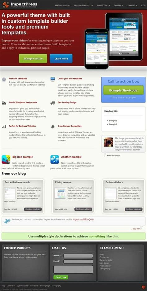 chimera template a stylish product centric premium business service