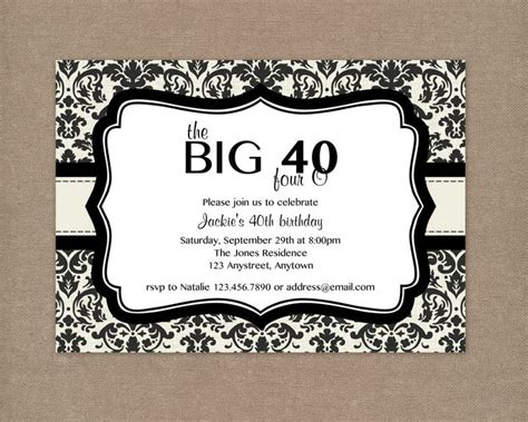 FREE 40th Birthday Invitation Wording Bagvania FREE