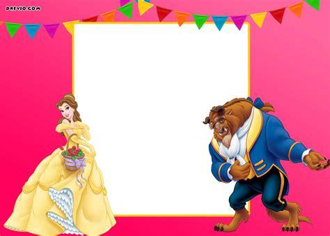 printable beauty   beast royal invitation