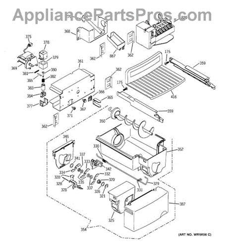 parts  ge gsspgmfcc ice maker dispenser parts