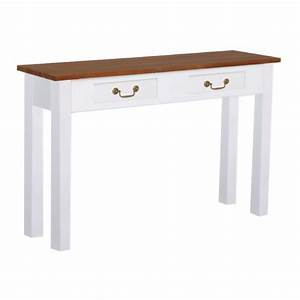 French Sofa Console Table In White And Two Tone Color