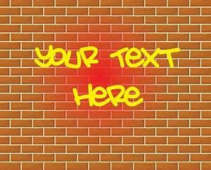 Graffiti brick wall drawing vector Vector | Free Download