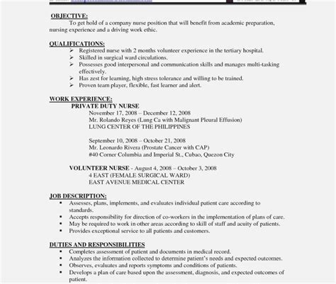 nursing job resume format  nurses cv sample