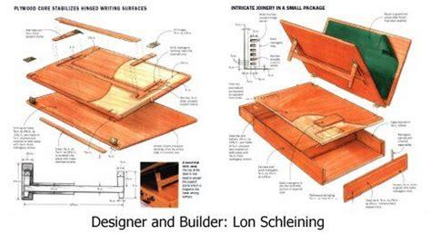 portable writing desk plans build  piece  history