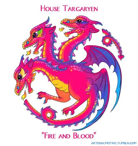 If Lisa Frank Designed The Game Of Thrones House Sigils ...