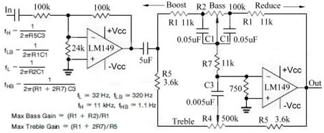 Circuits Active Audio Tone Control Circuit Design