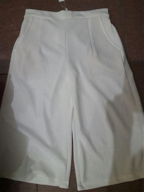 jual celana wanita kulot putih  lapak  goods riahan
