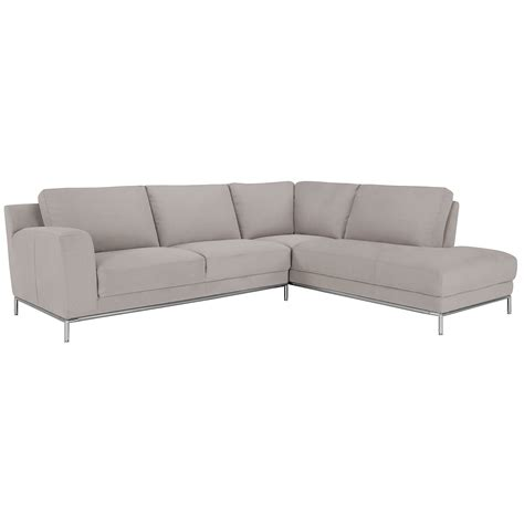chaise microfibre city furniture lt gray microfiber right chaise sectional