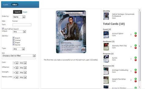 netrunner deck builder ios deck builder netrunner deck builder